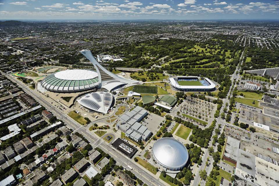 Aerial view of Olympic Stadium