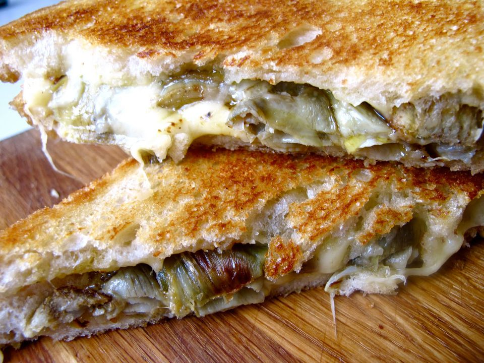 Roasted Artichoke Grilled Cheese