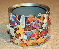 Decoupage Puzzle Pot Craft
