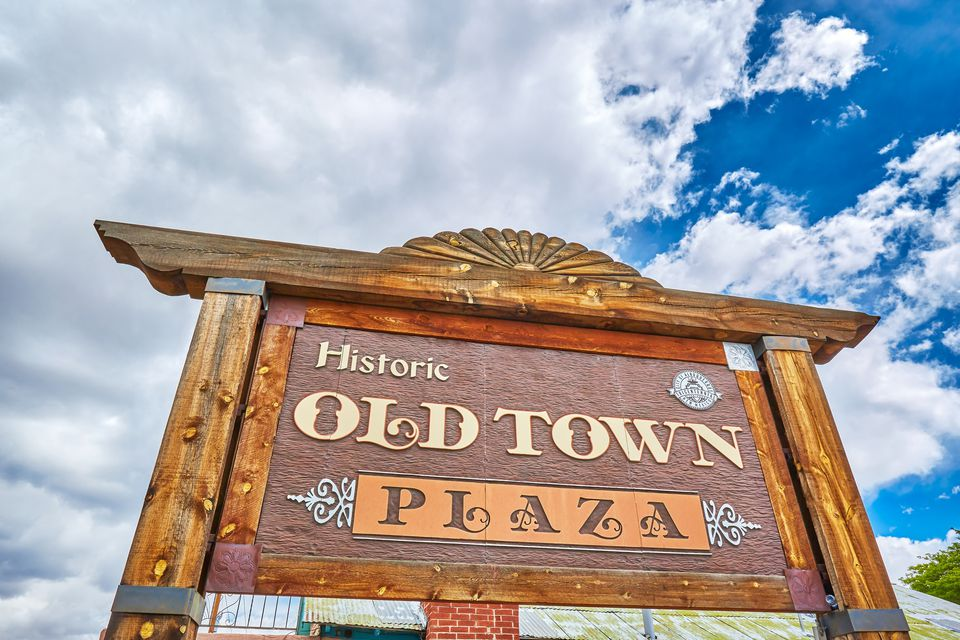 Signage at Old Town Albuquerque,New Mexico,