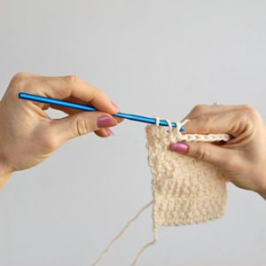 Learning How to Crochet Left-Handed.