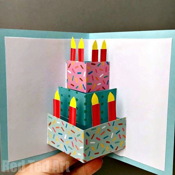 25 of the best diy birthday cards birthday cake pop up card bookmarktalkfo Choice Image