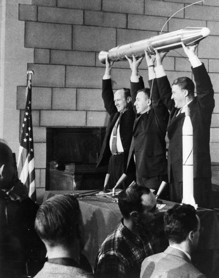 Explorer 1 post-launch press conference