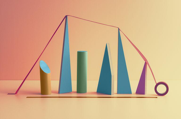 Abstract stock market visualization
