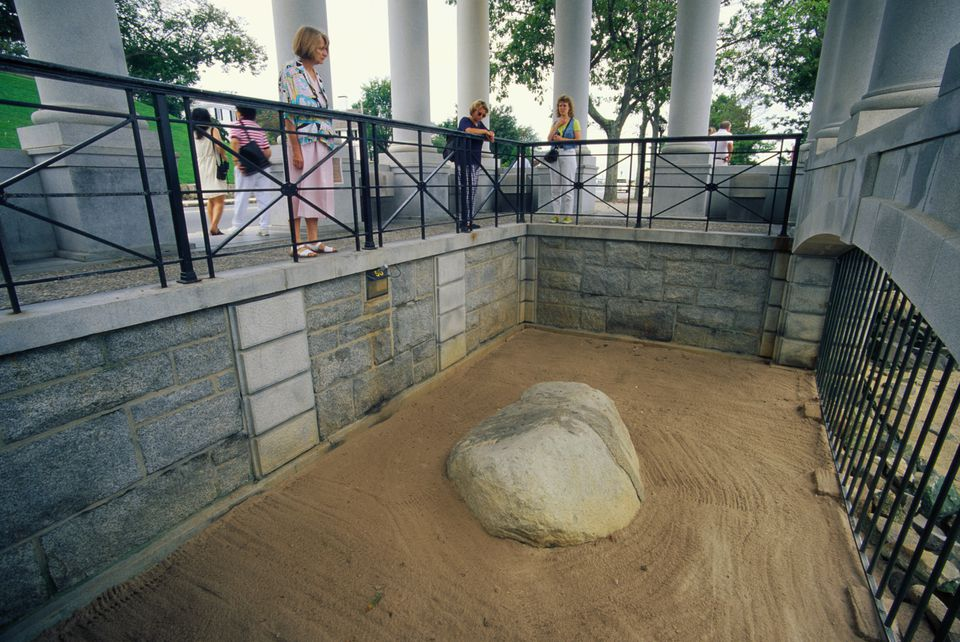 Historic Plymouth Rock in Plymouth, MA