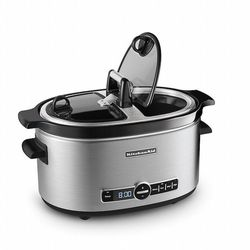 KitchenAid KSC6222SS Slow Cooker with Easy Serve Glass Lid, 6 quart, Stainless Steel
