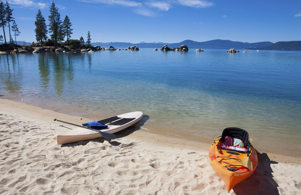 Kayaks on Lake Tahoe