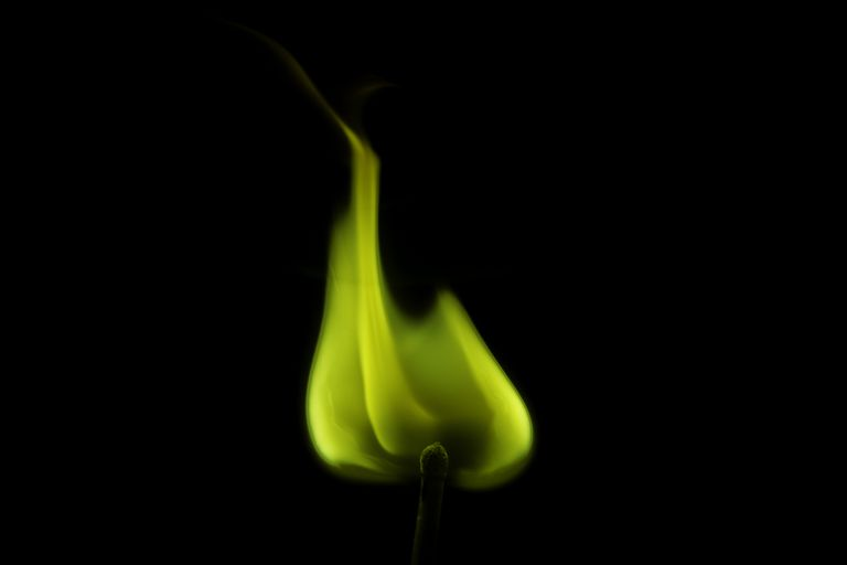 Barium salts produce a yellow-green flame.