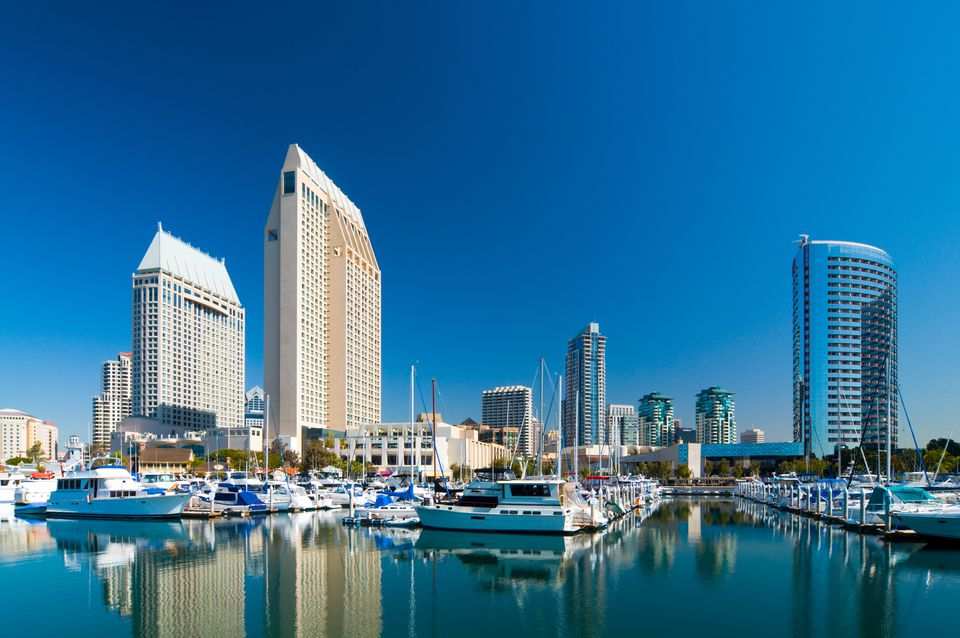 San Diego skyline and Marina
