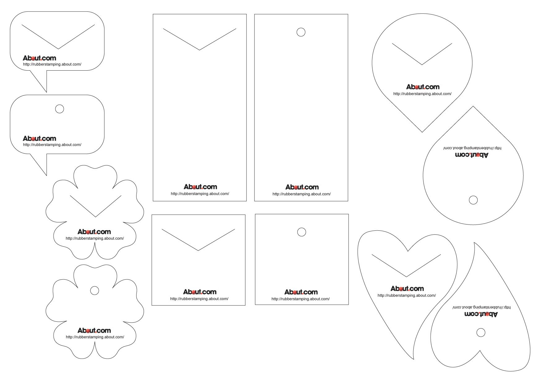 free printable bookmark templates for rubber stamping