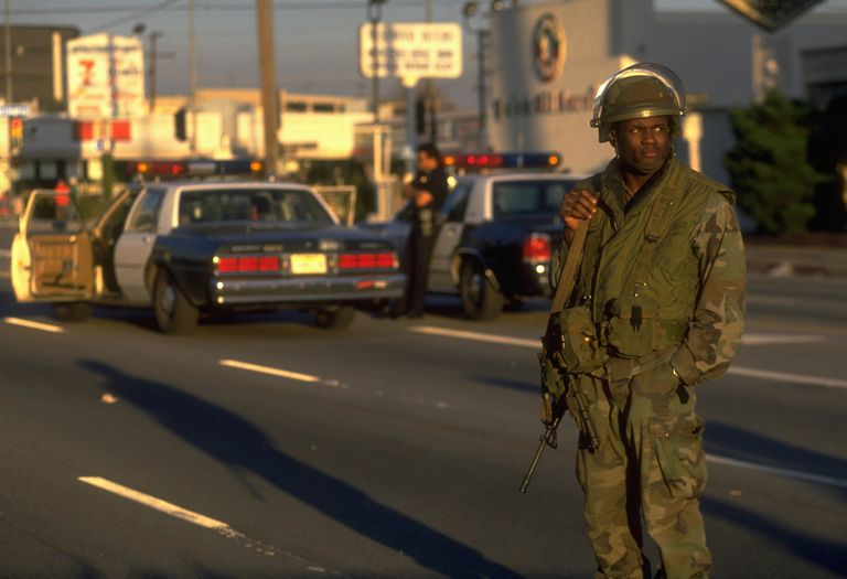 1994 Los Angeles Earthquake: National Guard