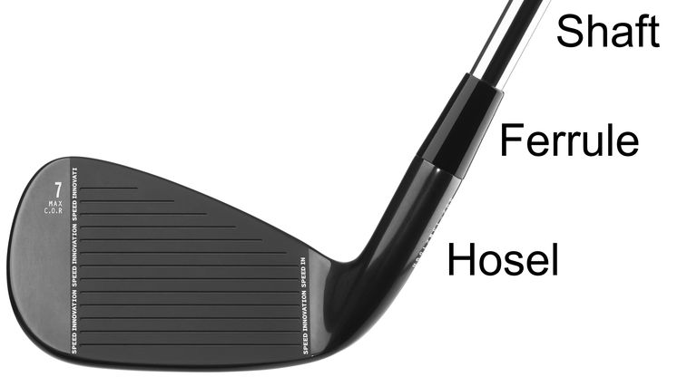 A 'hosel rocket' is a wayward shot caused by the ball flying off a club's rounded hosel.