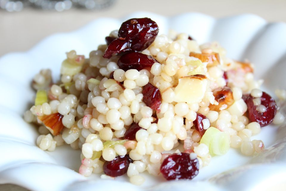 Israeli Couscous with Cranberries and Almonds
