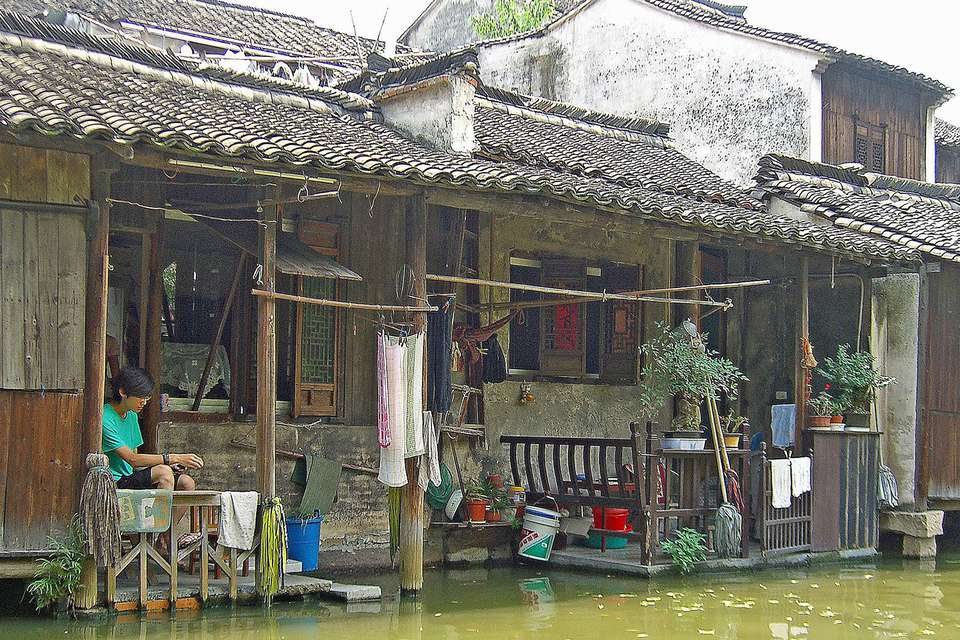 Wuzhen, China canal