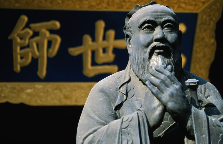 The revered sage Confucius, whose philosophy influenced Chinese civilisation for centuries- Wenmiao (Confucius Temple), Nanshi district.