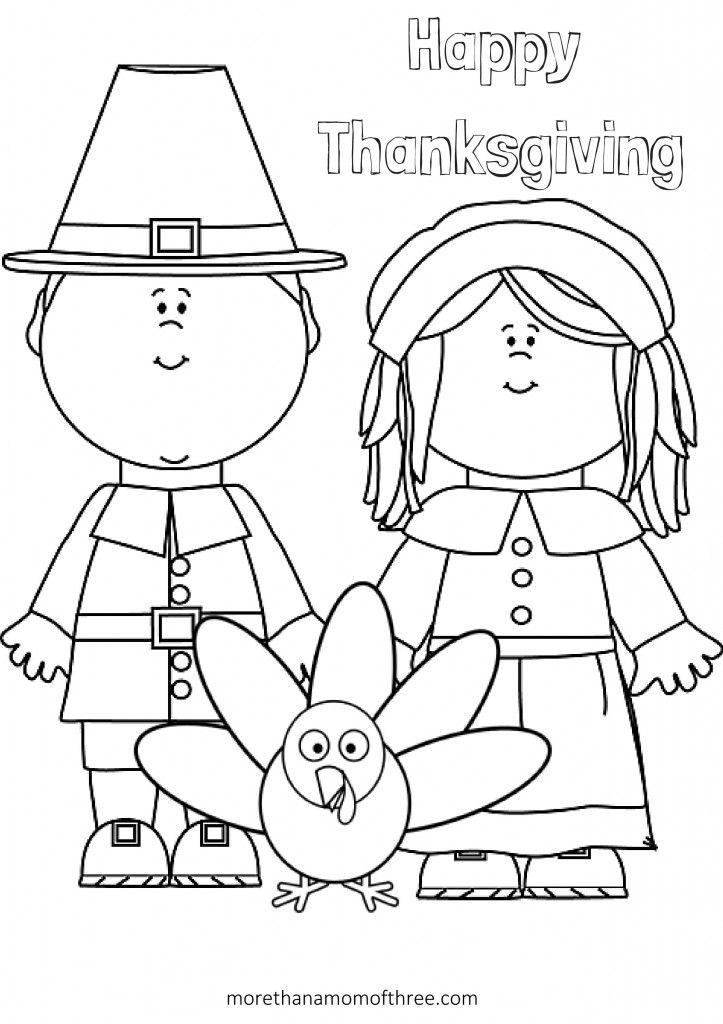 thanksgiving coloring page - Thanksgiving Pages To Color For Free