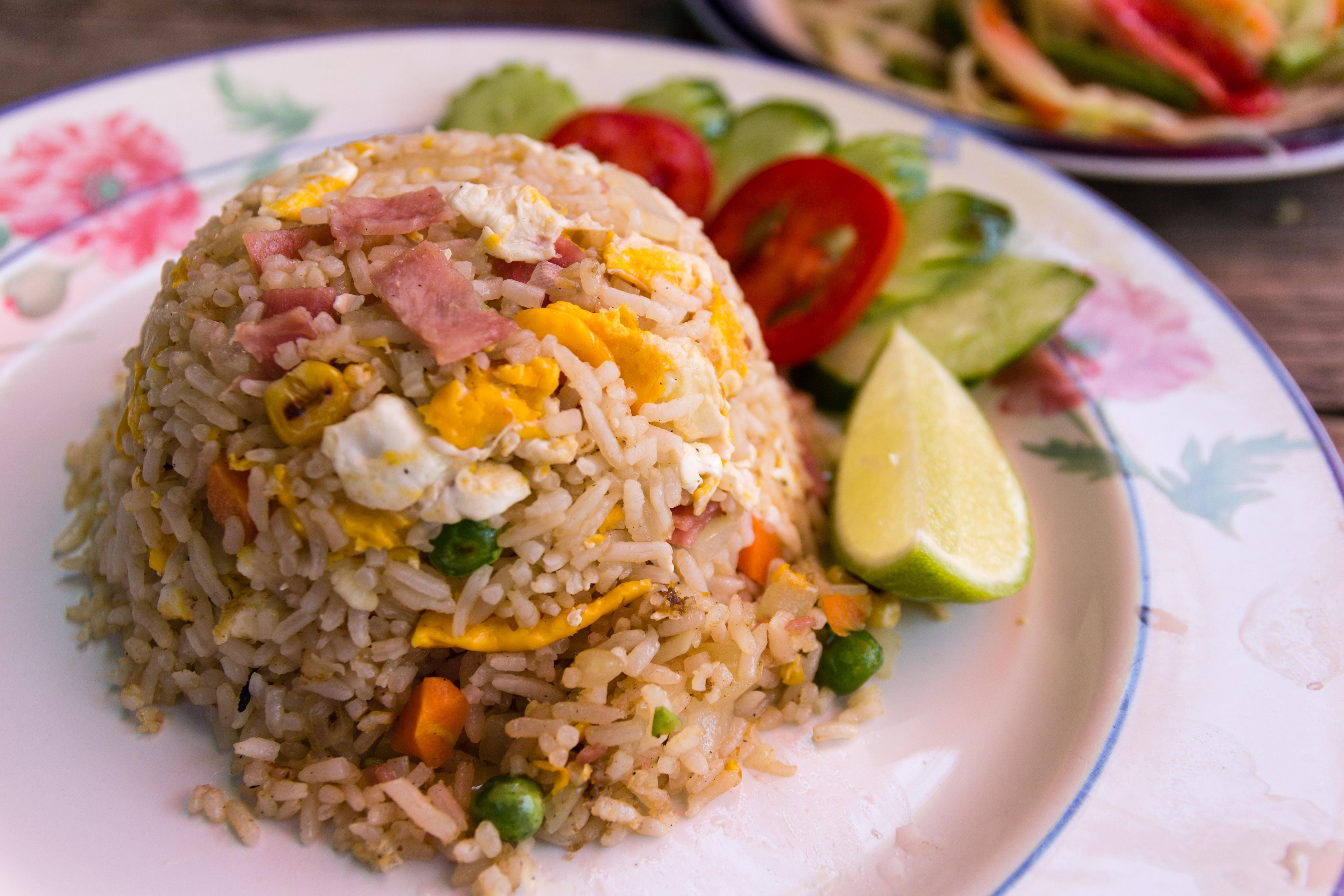 Vegetable fried rice recipe with cashews how to make delicious fried rice with ham in a snap ccuart Image collections