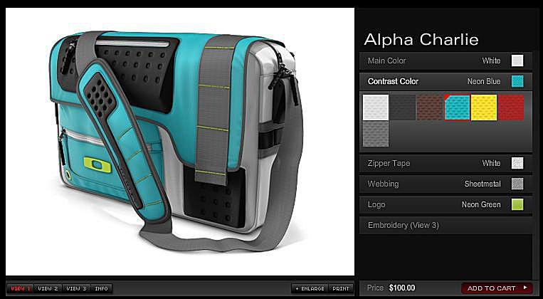 Oakley Alpha Charlie - Custom Messenger Laptop Bag