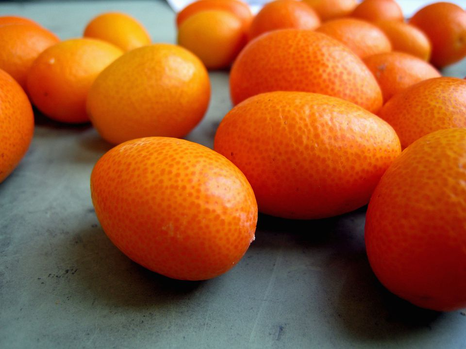 kumquats on table