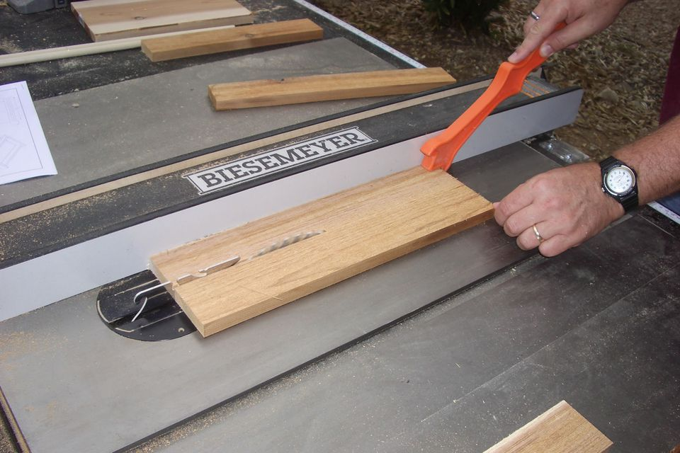 Cutting on a Table Saw