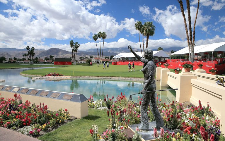 Dinah Shore statue at Mission Hills, site of ANA Inspiration