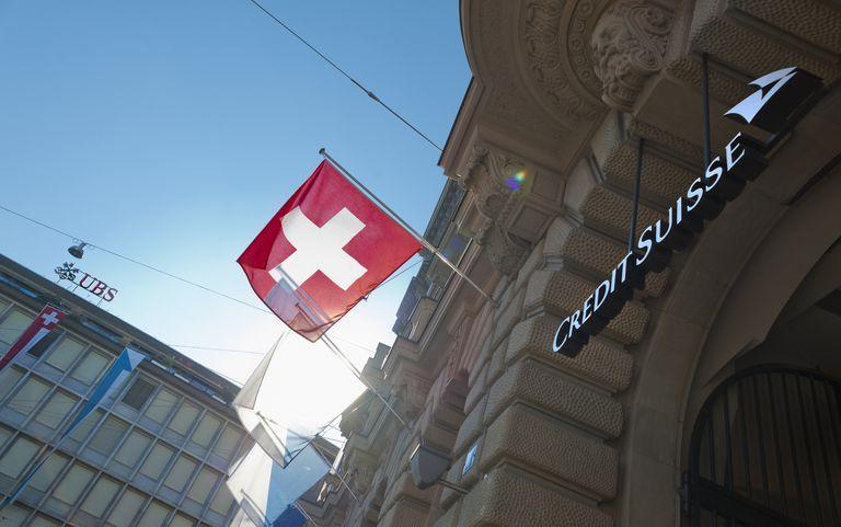 Credit Suisse headquarters on Paradeplatz in Zurich