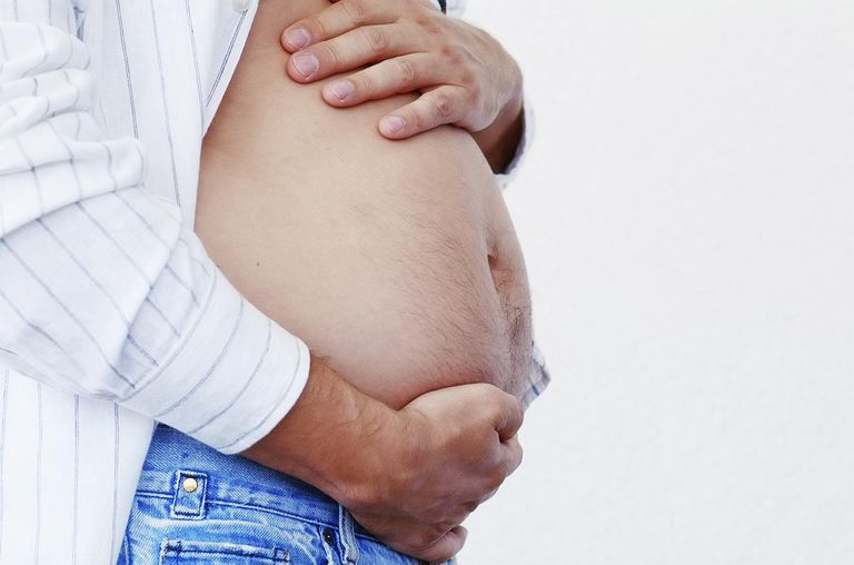 Pregnant man's belly
