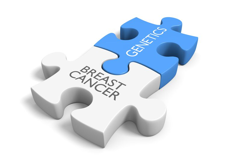 puzzle pieces interaction of breast cancer, brca mutations, and survival