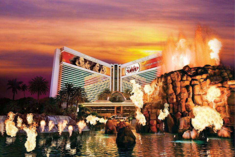 The Erupting Volcano on the Las Vegas Strip