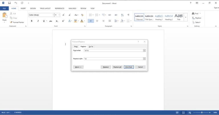 Microsoft Word Remove Extra Breaks