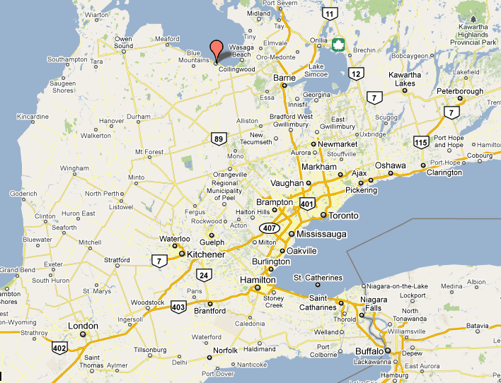 Guide To Visiting Collingwood Ontario: Collingwood Ontario Canada Map At Infoasik.co
