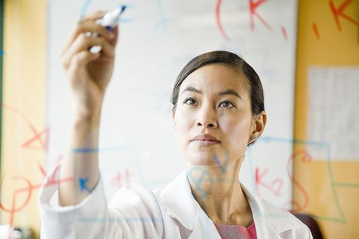A scientist applies deductive reasoning in the course of research. Sometimes scientists take the inductive approach, or use a combination of the two.