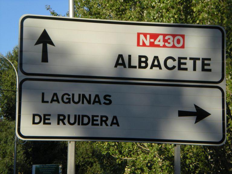 road sign in Spain