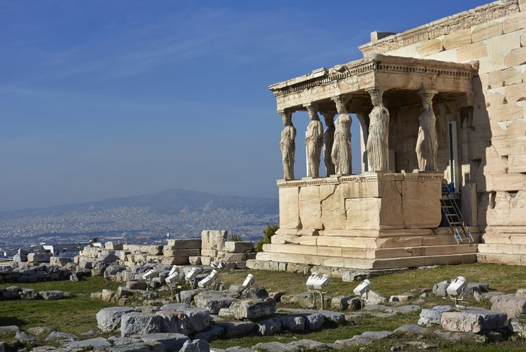 Porch of Caryatids at the Acropolis in Athens