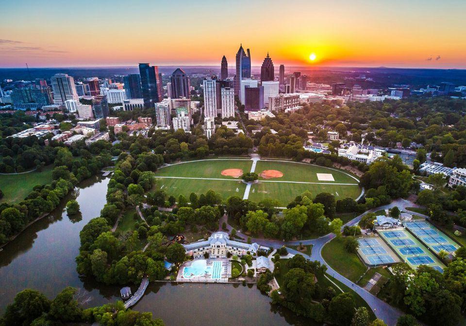 Atlanta Skyline with Piedmont Park