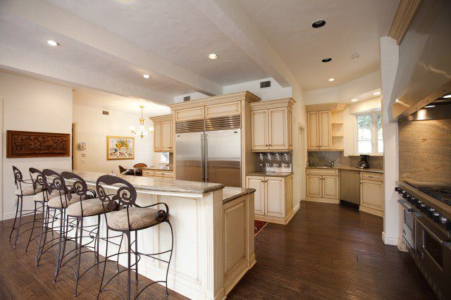 cream kitchen cabinets with dark floors kitchen flooring pictures hardwood vinyl and more 14223