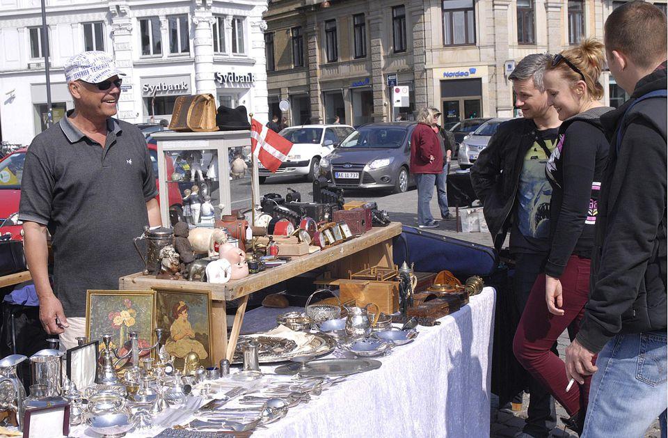 Flea Market Shopping in Denmark