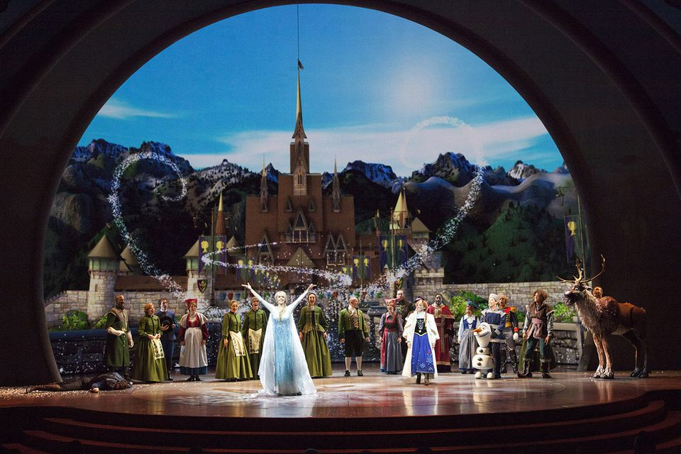A Scene from Frozen at the Hyperion Theater