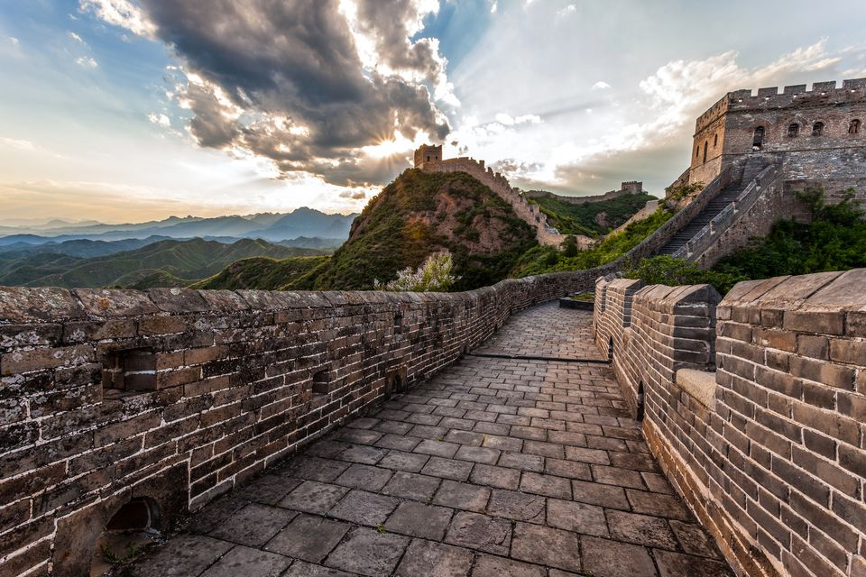 Cloud sky and great wall