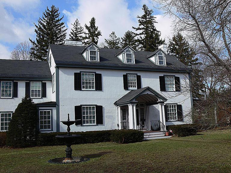 Black and White Colonial Revival Home