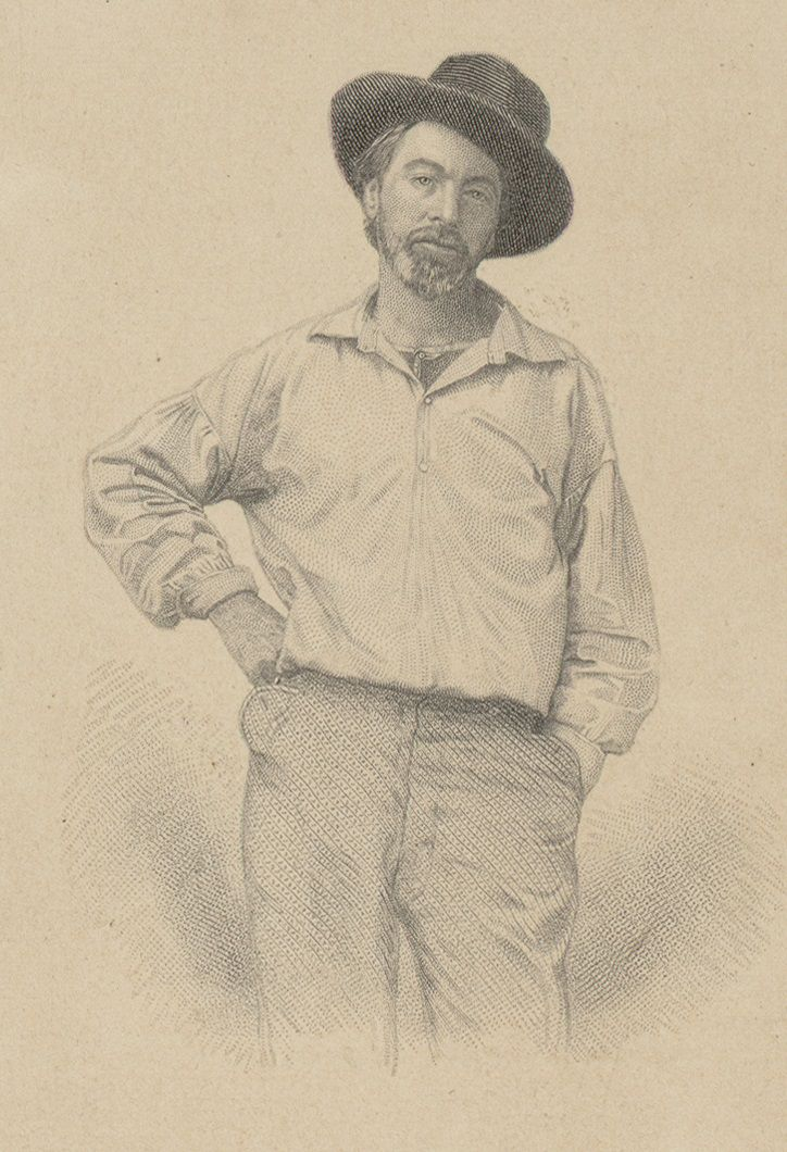 Walt Whitman in 1855 from the original edition of Leaves of Grass