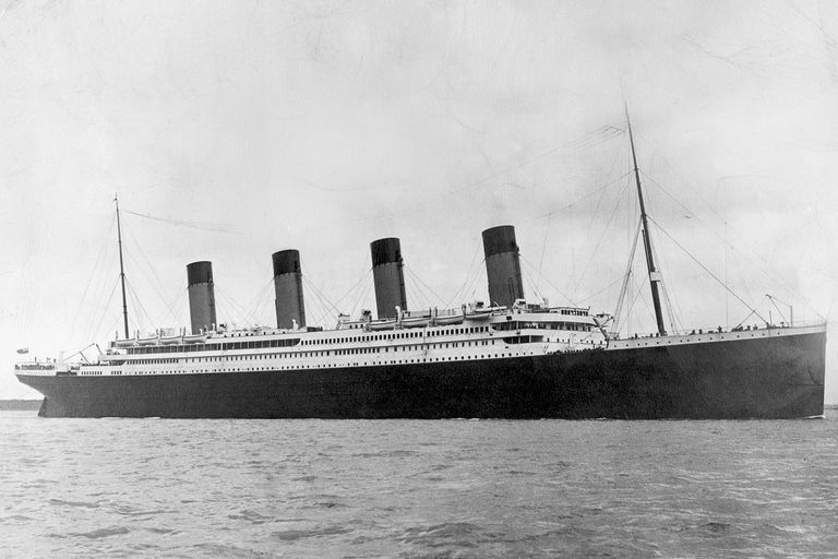 The Titanic leaving Southampton in 1912