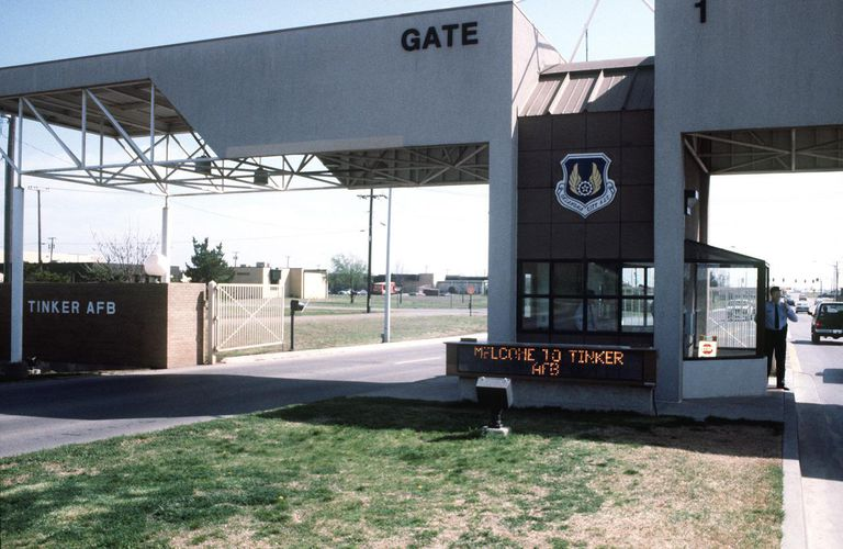 Tinker AFB, main gate, 1995.