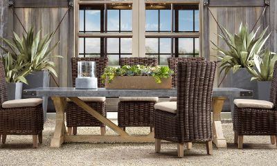 restoration outdoor furniture. Concrete Rectangular Dining Table, Restoration Hardware Outdoor Furniture B