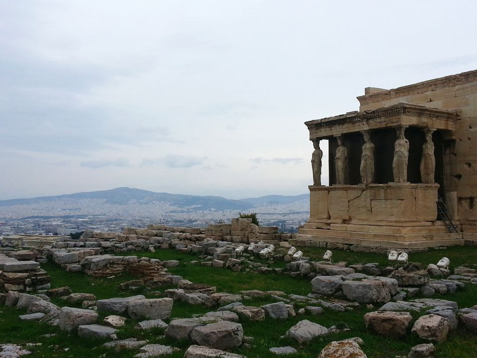 The Erechtheum Against Sky