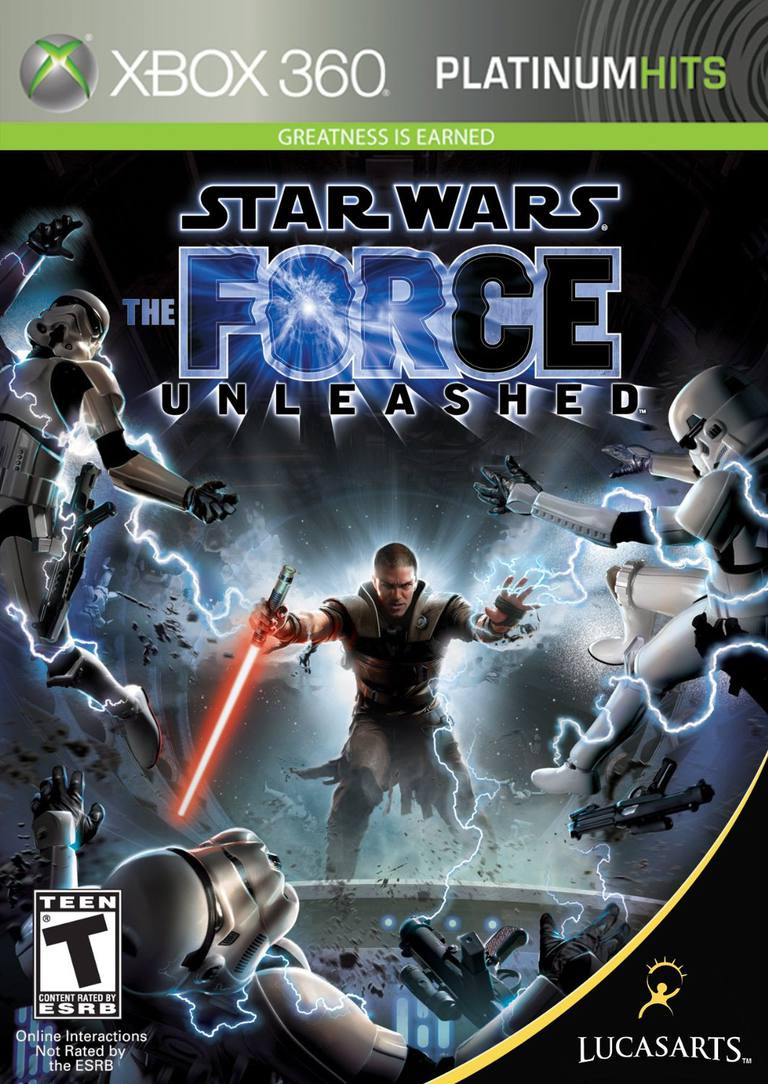 Picture of the Star Wars: The Force Unleashed box of the Xbox 360 game
