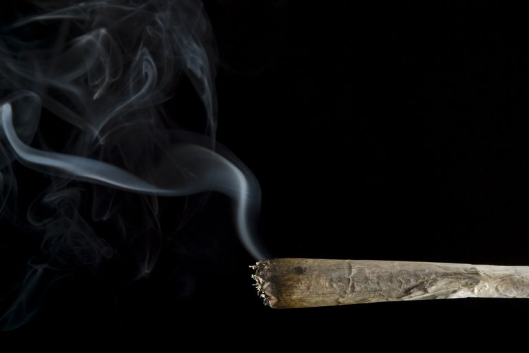 secondhand smoke from a lit joint