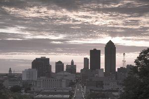 Skyline of Des Moines, Iowa, USA