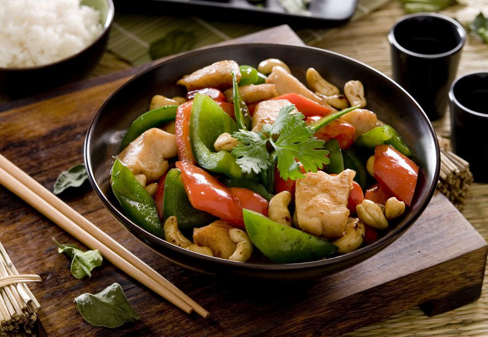 Chicken With Green And Red Peppers