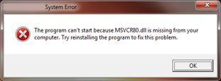 msvcr80.dll-Error